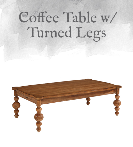 Coffee Table with Turned Legs