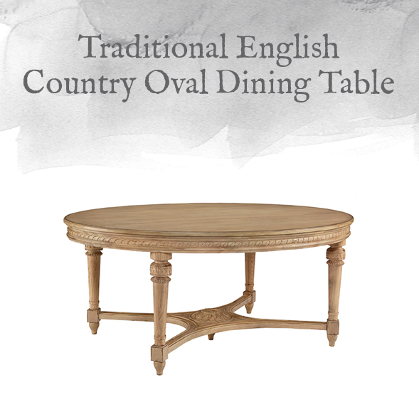 English Country Oval Dining Table