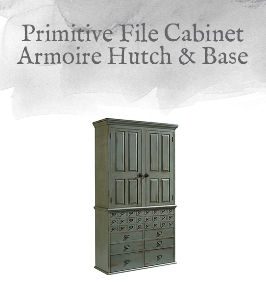 File Cabinet Armoire Hutch & Base