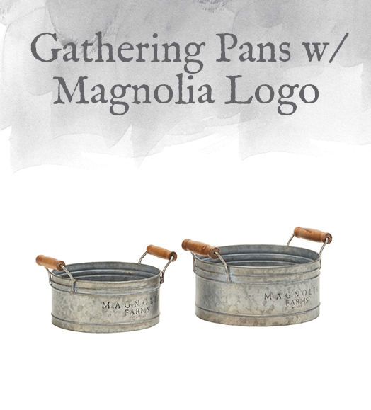 Gathering Pans with Magnolia Logo