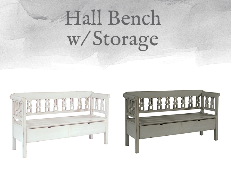 Hall Bench with Storage