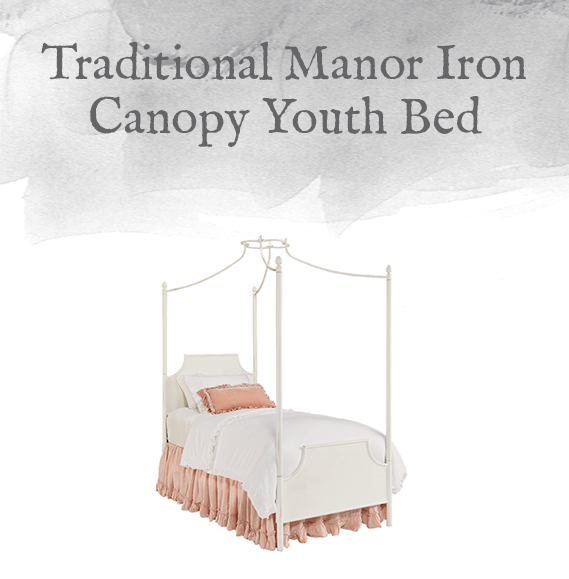 Manor Iron Canopy Youth Bed
