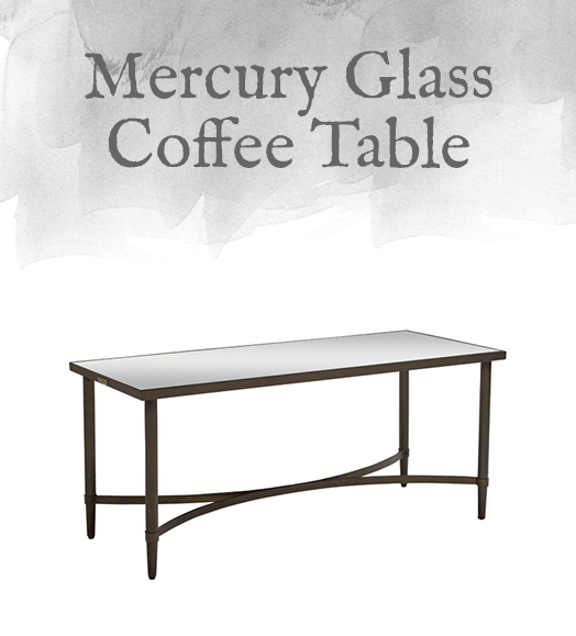 Mercury Glass Coffee Table