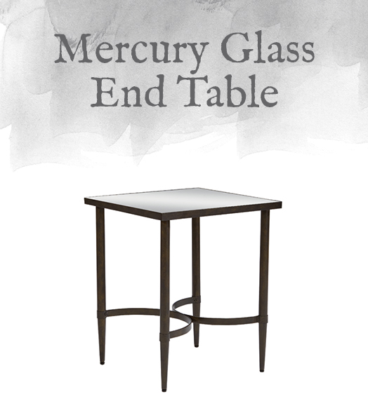 Mercury Glass End Table