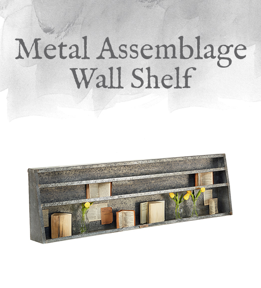 Metal Assemblage Wall Shelf