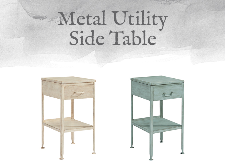 Metal Utility Side Table