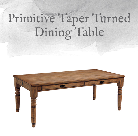 Primitive Taper Turned Dining Table
