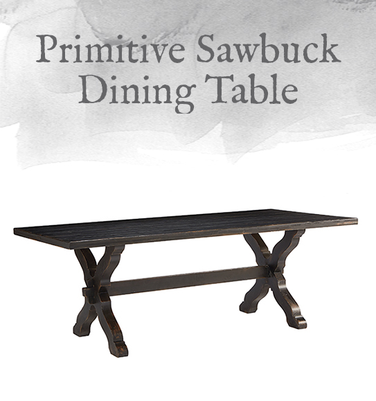 Sawbuck Dining Table