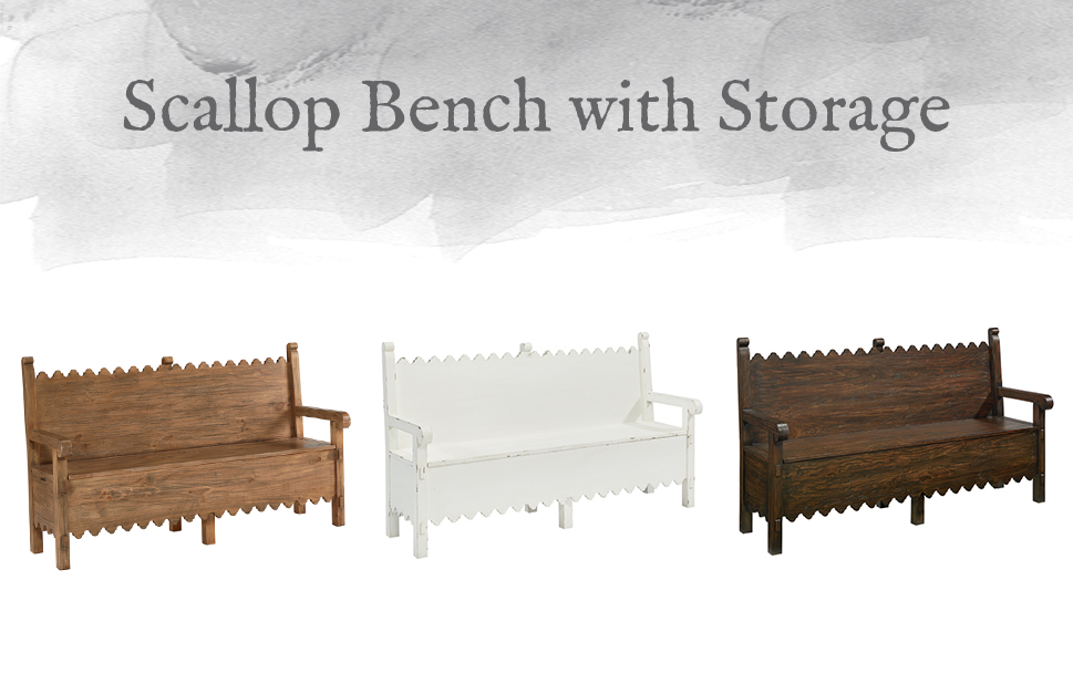 Scallop Bench with Storage