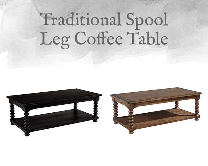 Spool Leg Coffee Table