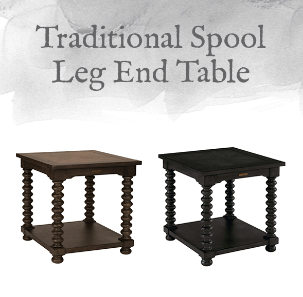 Spool Leg End Table