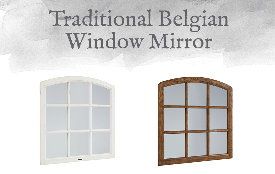 Traditional Belgian Window Mirror