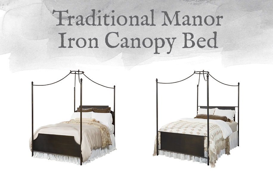 traditional manor iron canopy bed design by gahs