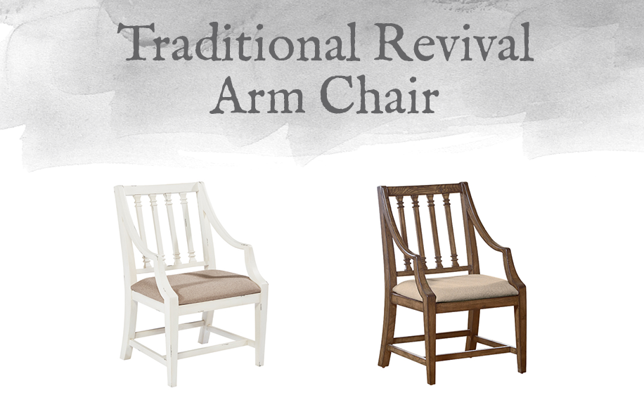 Traditional Revival Arm Chair