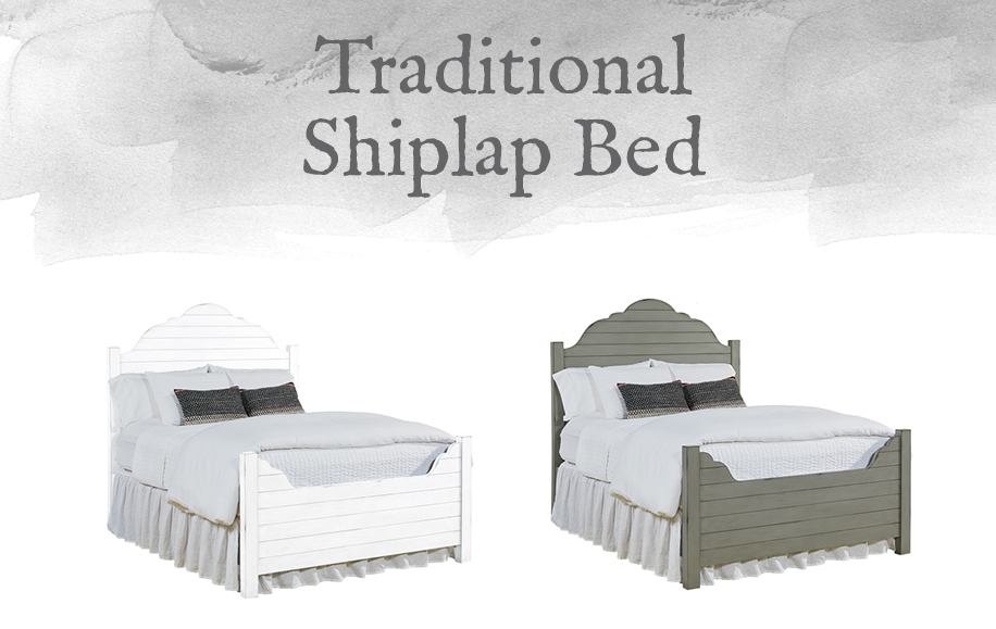 Traditional Shiplap Bed