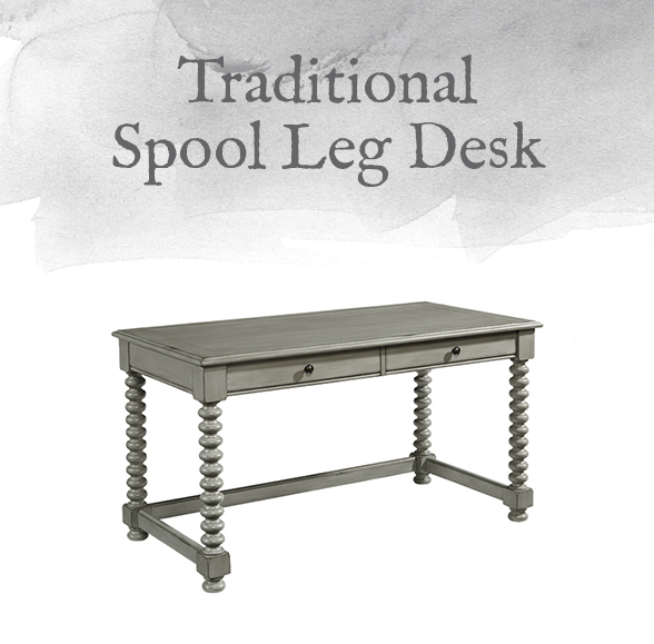 Traditional Spool Leg Desk