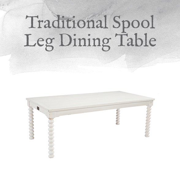 Traditional Spool Leg Dining Table