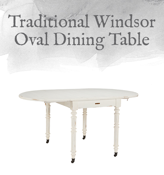 Windsor Oval Dining Table with Drop Leaf
