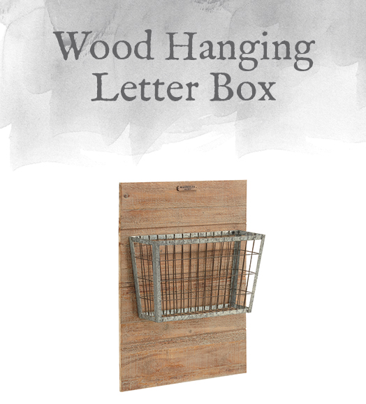 Wood Hanging Letter Box