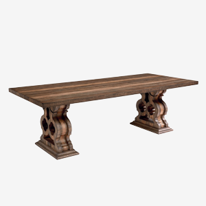 Traditional Corbel Trestle Table with Corbels by Magnolia Home