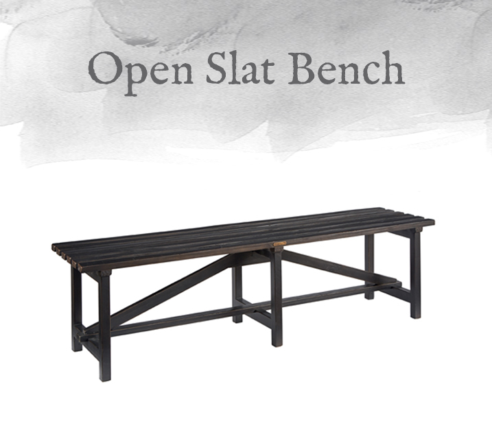 Open Slat Bench