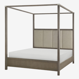 Rachael Ray Home High Line King Upholstered Poster Bed at Great American Home Store