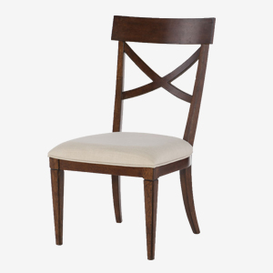 Rachael Ray Home Upstate X-Back Side Chair with Upholstered Seat at Great American Home Store