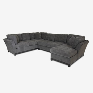 Loxley Charcoal Right-Side Facing Chaise Sectional